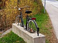 Safe bicycle stand