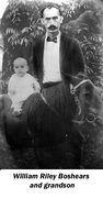 William Riley Boshears and a grandson