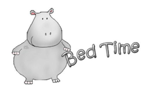 Bed Time - CuteHippo2018
