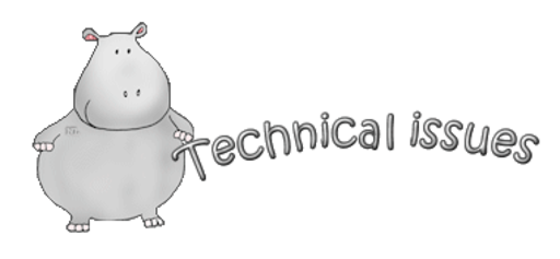 Technical issues - CuteHippo2018